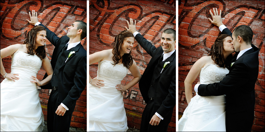 Wedding Dresses, Fashion, dress, Bride, Groom, Couple, Hamilton, Alley, Brick, Grafitti, Tami mcinnis photography, Locke street