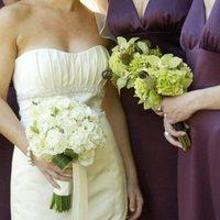 Flowers & Decor, Bridesmaids, Bridesmaids Dresses, Wedding Dresses, Fashion, white, purple, green, dress, Bridesmaid Bouquets, Flowers, Just bloomed florals, Flower Wedding Dresses