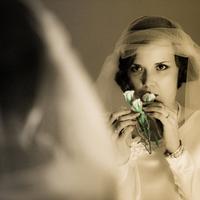 Beauty, Inspiration, Flowers & Decor, Wedding Dresses, Veils, Fashion, white, black, dress, Makeup, Bride Bouquets, Bride, Flowers, Veil, And, Board, Sepia, Mirror, Antique, Our-wedding-photographer, Flower Wedding Dresses