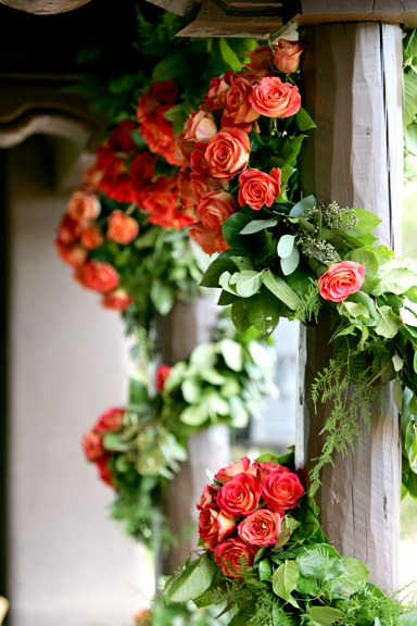 Ceremony, Flowers & Decor, Decor, orange, And, Events, Weddings, Art, Soul, Art soul weddings and events, Big fun roses