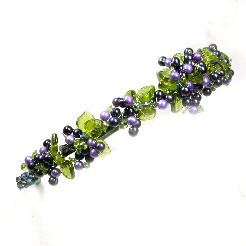 Beauty, Jewelry, purple, green, Headbands, Hair, Grapes, Wine, Headband, Damselfly studio, Damselflystudio, Grapevine, Bacchanalia