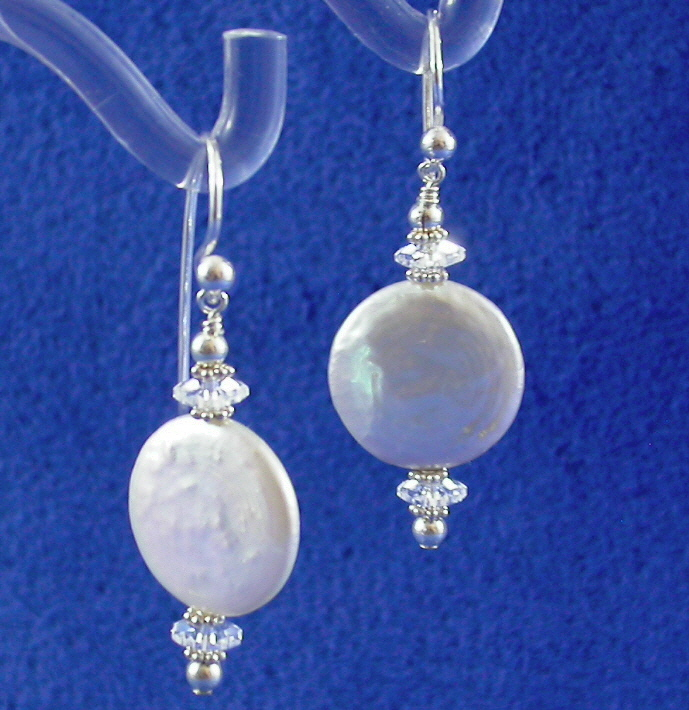 Jewelry, white, silver, Earrings, Drop, Studio, Pearl, Pendant, Coin, Damselfly, Damselfly studio