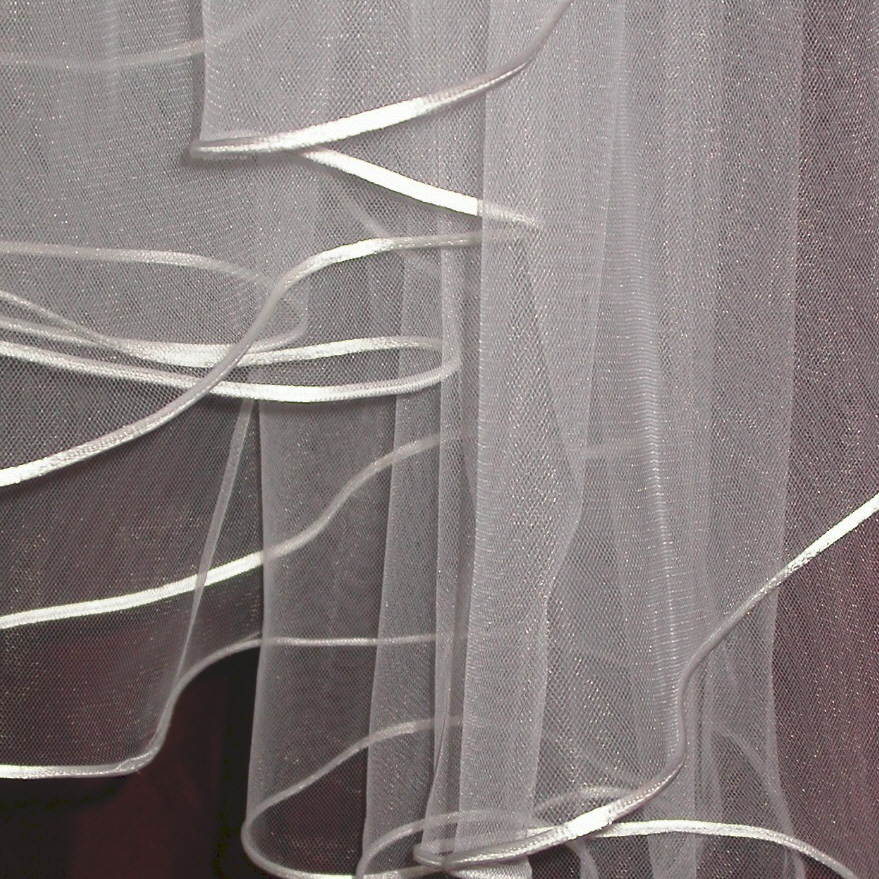 Veils, Fashion, white, ivory, Bride, Veil, Bridal, Tulle, Satin, 2, Studio, Cord, Tier, Candlelight, Damselfly, Damselfly studio, tulle wedding dresses, satin wedding dresses