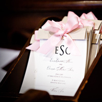 Stationery, pink, gold, Invitations, Ceremony Programs, Program, Layered, Allison barnhill designs