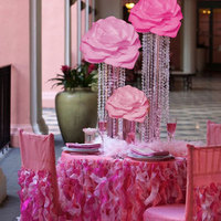 Flowers & Decor, pink, Flower, Centerpiece, Vase, Tall, Crystal