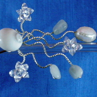 Hairpin, Beach, Wedding, Aquamarine