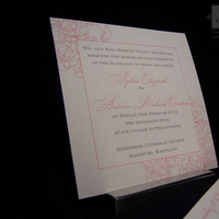 Flowers & Decor, Stationery, pink, silver, invitation, Invitations, Flower, Floral, Design, Peony, Template, Belletristics