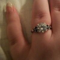 white, blue, silver, Ring, Engaement