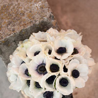 Flowers & Decor, white, black, Bride Bouquets, Vintage, Bride, Flowers, Vintage Wedding Flowers & Decor, Bouquet, Ribbon, Pins, Pearl, Anemone, Scabiosa