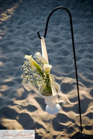Ceremony, Flowers & Decor, white, green, Ceremony Flowers, Flowers, Modern la weddings