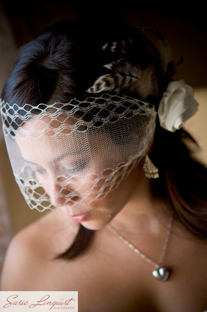 Beauty, Ceremony, Flowers & Decor, Jewelry, Veils, Fashion, white, brown, Makeup, Veil, Hair, Modern la weddings, Netted