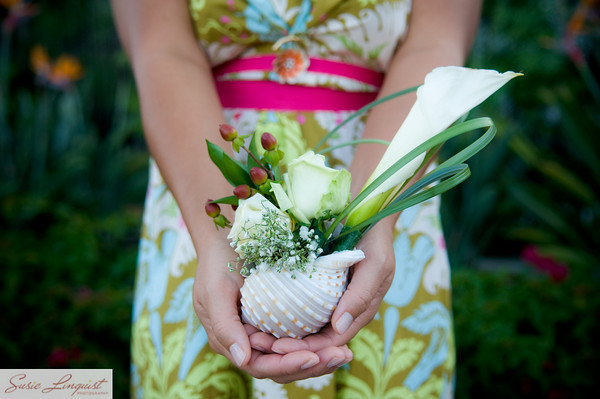 Ceremony, Flowers & Decor, Bridesmaids, Bridesmaids Dresses, Fashion, white, yellow, pink, green, gold, Ceremony Flowers, Bride Bouquets, Bridesmaid Bouquets, Flowers, Bouquet, Bridemaids, Modern la weddings, Flower Wedding Dresses