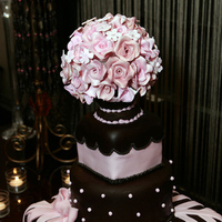Cakes, pink, brown, cake, Jay davis photography