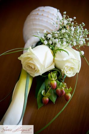 Ceremony, Flowers & Decor, Bridesmaids, Bridesmaids Dresses, Fashion, white, yellow, red, green, Ceremony Flowers, Bridesmaid Bouquets, Flowers, Modern la weddings, Flower Wedding Dresses