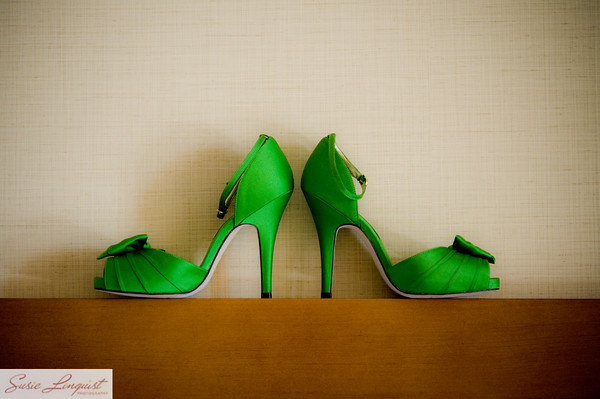 Ceremony, Flowers & Decor, Shoes, Fashion, green, Stilettos, Modern la weddings