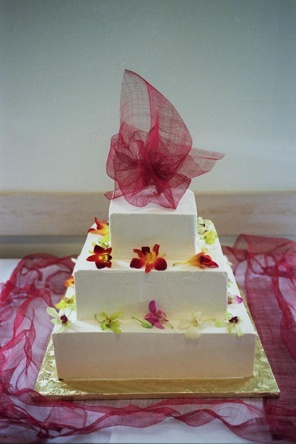 Flowers & Decor, Cakes, yellow, pink, red, purple, gold, cake, Flowers, Modern la weddings