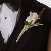 Flowers & Decor, white, green, Boutonnieres, Flowers, Boutonniere, Andrews atelier