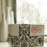 DIY, Favors & Gifts, white, red, brown, black, Favors, Gift, And, Damask, Tapeswell