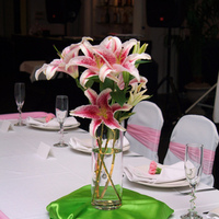pink, green, Centerpiece, Dc centre