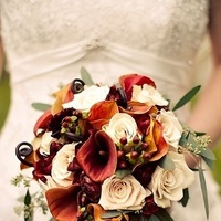 Flowers & Decor, orange, red, gold, Bride Bouquets, Flowers, Bouquet, Bridal