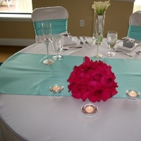 Reception, Flowers & Decor, white, pink, blue, silver, Prissy events
