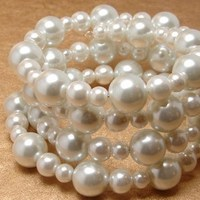 Jewelry, white, silver, Bracelets, Bracelet, Pearl, Cuff
