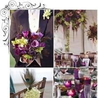 Inspiration, Flowers & Decor, purple, blue, green, Flowers, Board, Color, Peacock, Passion