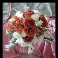 Reception, Flowers & Decor, white, ivory, orange, gold, Centerpieces, Flowers, Roses, Centerpiece, Grass, Champagne, Orchids, Glass, Inexpensive, Bear, Nikolai weddings and events