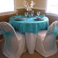 Reception, Flowers & Decor, white, blue, Nikolai weddings and events