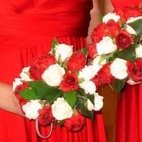 Flowers & Decor, red, Bride Bouquets, Bridesmaid Bouquets, Flowers, Bouquet, Bridesmaid