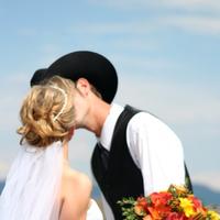 Beauty, Inspiration, Flowers & Decor, Wedding Dresses, Fashion, yellow, orange, green, black, dress, Bride Bouquets, Bride, Flowers, Groom, Wedding, Hair, And, Cowboy, Board, Flower Wedding Dresses