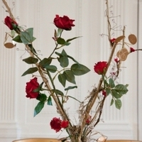 Flowers & Decor, red, gold, Centerpieces, Flowers, Centerpiece