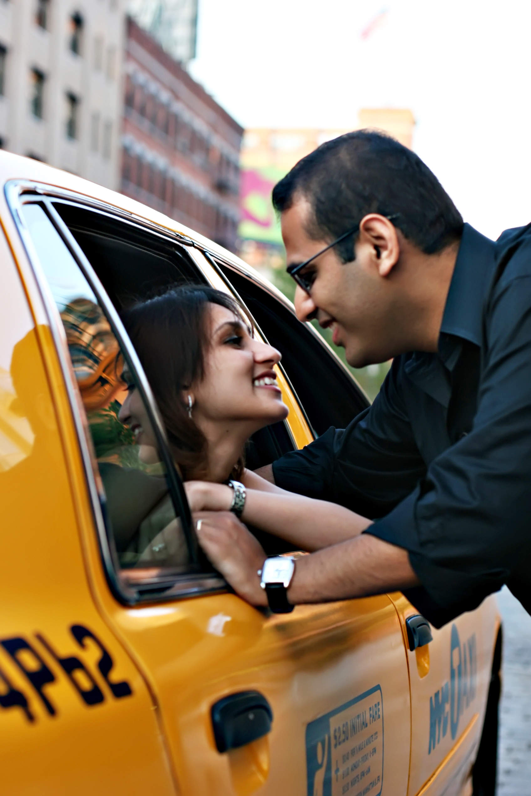 Destinations, yellow, North America, Couple, Engagement, Session, Manhattan, New york, Taxi