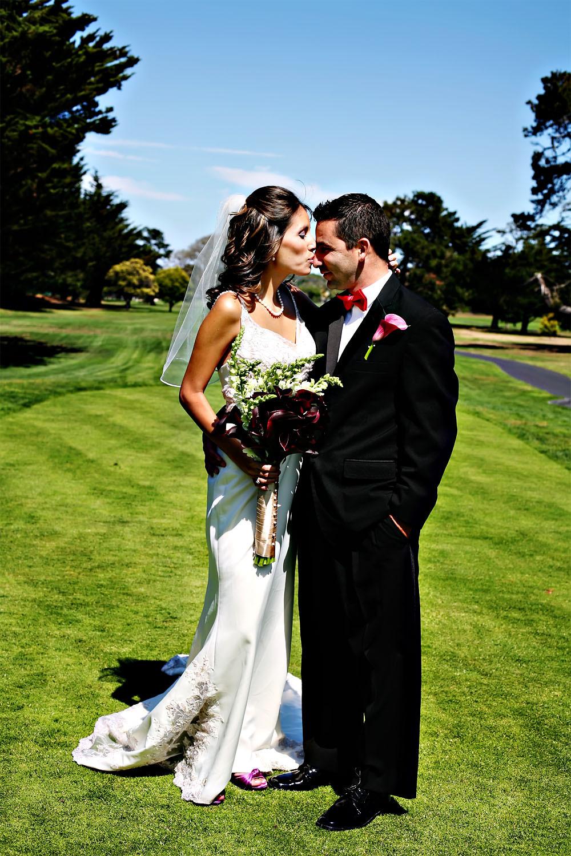 Ceremony, Reception, Flowers & Decor, Wedding Dresses, Fashion, dress, Ceremony Flowers, Bride Bouquets, Bride, Flowers, Groom, Wedding, Golf course, Carmel, Califiornia, Flower Wedding Dresses