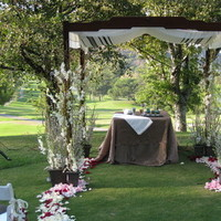 Ceremony, Flowers & Decor, white, pink, green, brown