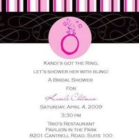 Stationery, pink, black, invitation, Invitations, Bridal, llc, Shower, Sparkling events designs