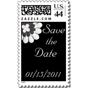 Inspiration, Flowers & Decor, Stationery, white, black, Invitations, Flowers, Wedding, Board, The, Save, Date, Stamps, Postage, Design by ruby