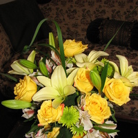 Reception, Flowers & Decor, white, yellow, green, Centerpieces, Flowers, Centerpiece, Macklin floral designs