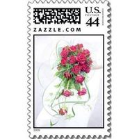 Flowers & Decor, Photography, Stationery, white, red, Bride Bouquets, Invitations, Flowers, Bouquet, Stamps, Postage, Design by ruby