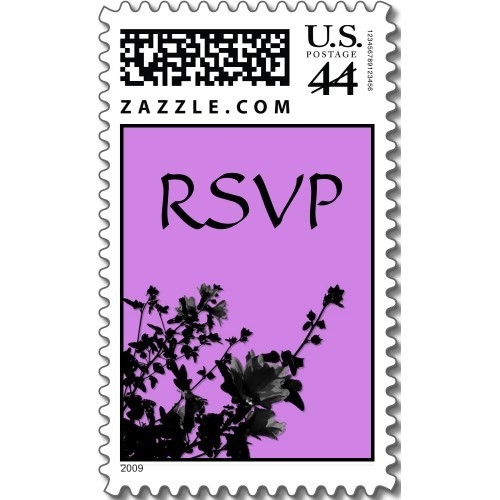 Inspiration, Flowers & Decor, Stationery, purple, black, Invitations, Flowers, Floral, Rsvp, Board, Stamps, Postage, Design by ruby