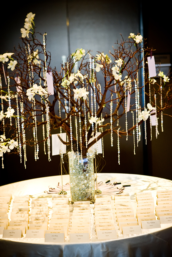 Reception, Flowers & Decor, white, brown, Flowers, Modern la weddings