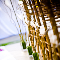 Ceremony, Flowers & Decor, white, green, gold, Ceremony Flowers, Flowers, Modern la weddings