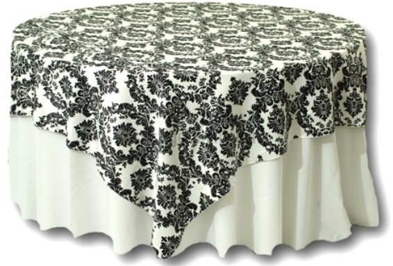 Ceremony, Reception, Flowers & Decor, Cakes, white, black, cake, Table, Damask, Overlays