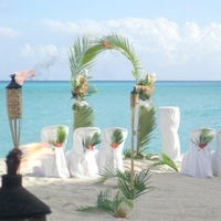 Ceremony, Flowers & Decor, orange, green, Sint maarten marry-me