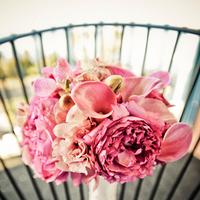 Flowers & Decor, pink, Bride Bouquets, Garden, Bride, Flowers, Garden Wedding Flowers & Decor, Roses, Bouquet, Calla, Lilies, Orchids, Mini, Floral occasions