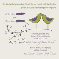 Stationery, purple, green, Invitations