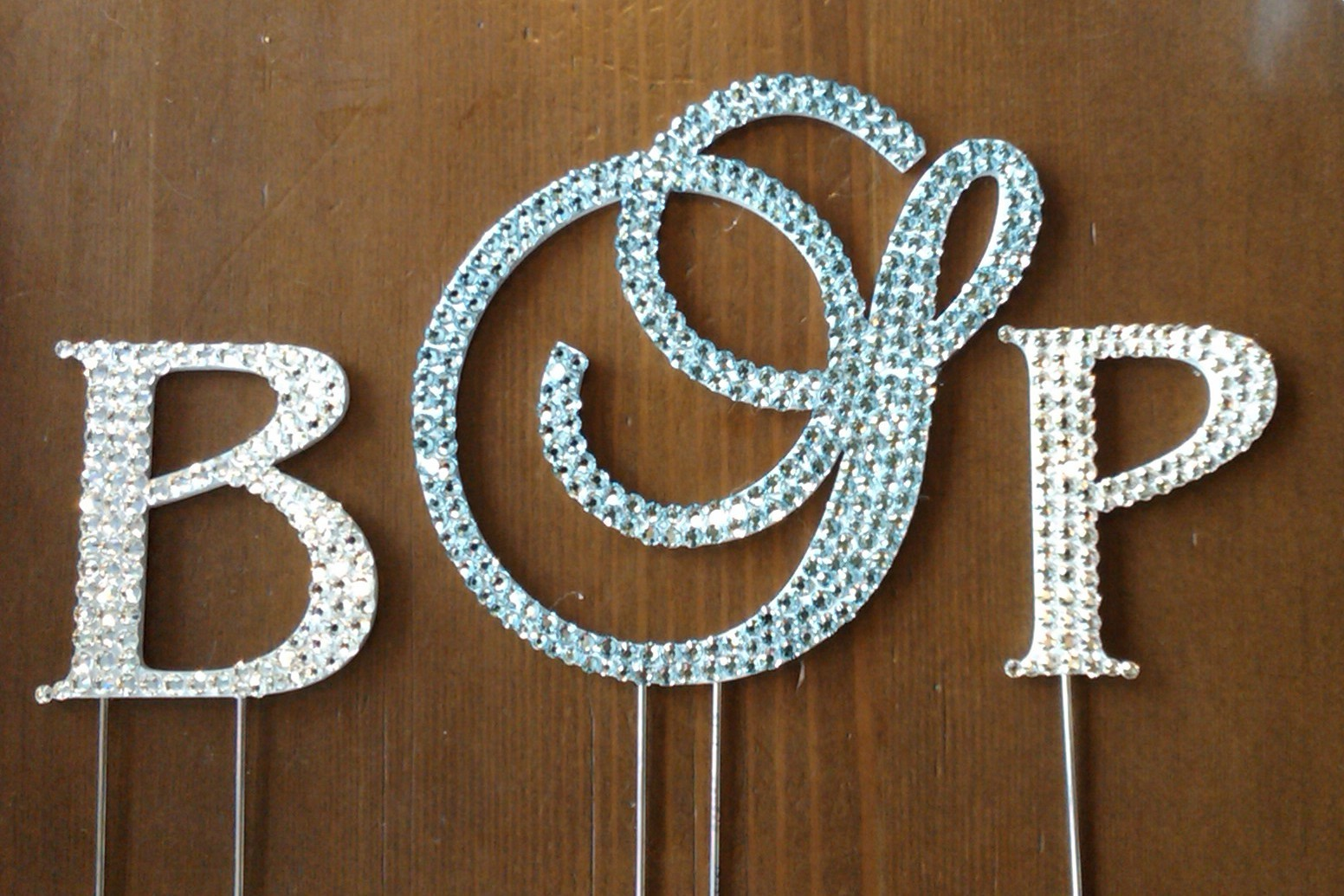 Reception, Flowers & Decor, Cakes, blue, silver, cake, Monogrammed Wedding Cakes, Monogram, Cake topper, Monogram cake topper
