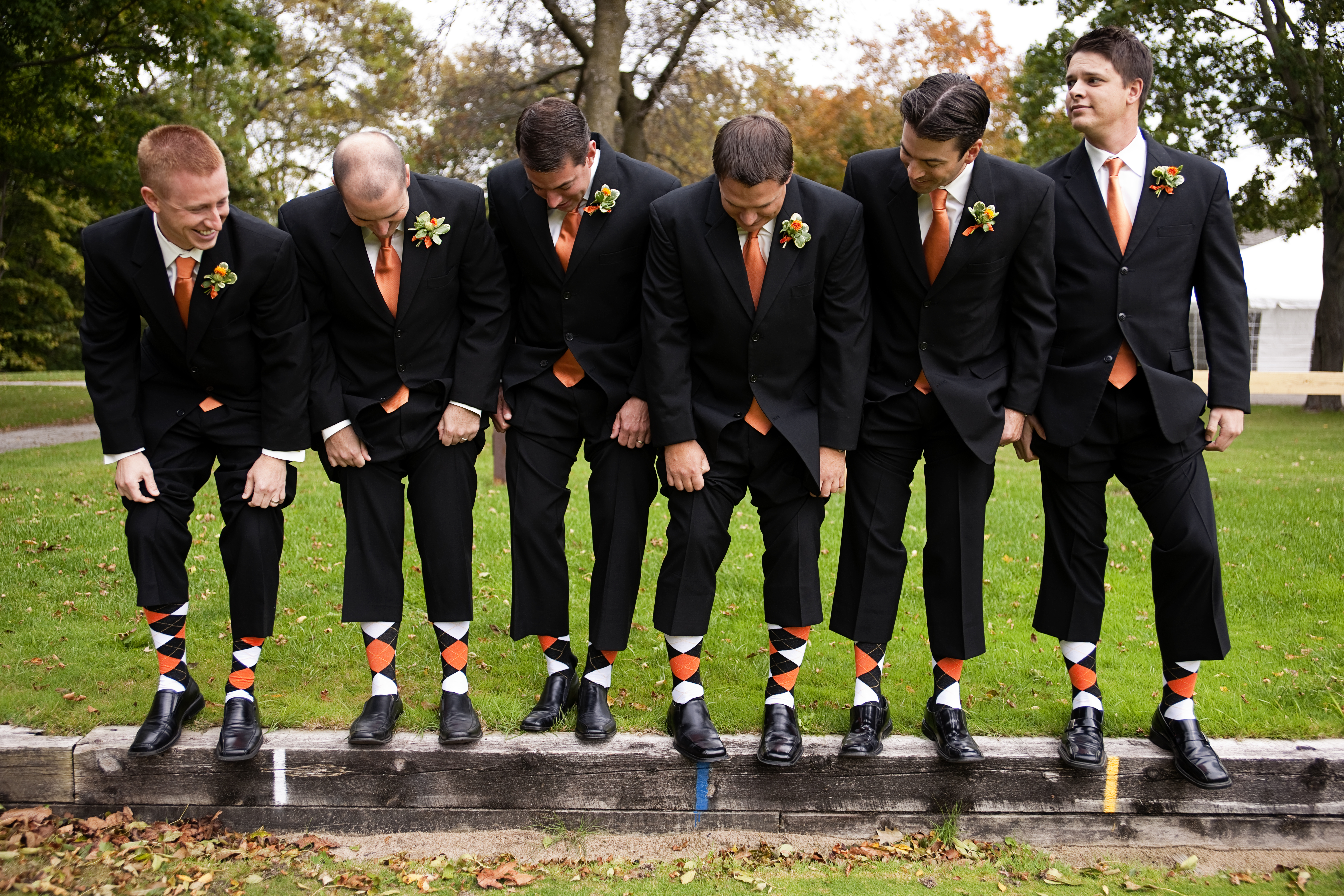 Bridesmaids, Bridesmaids Dresses, Shoes, Fashion, orange, black, gold, Faber photography