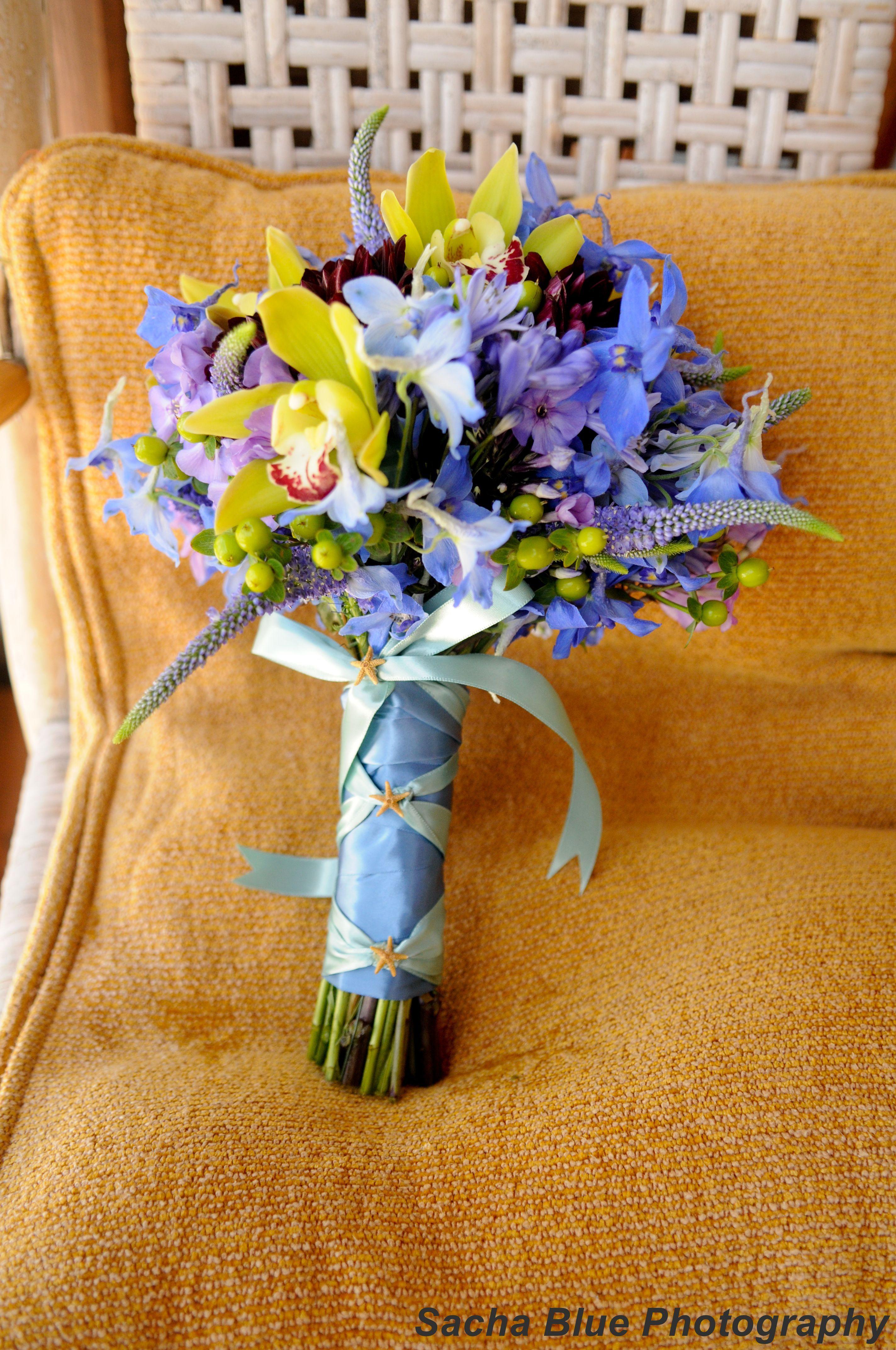 Flowers & Decor, blue, green, Beach, Bride Bouquets, Bride, Flowers, Beach Wedding Flowers & Decor, Bouquet, Designs by courtney