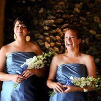 Flowers & Decor, Bridesmaids, Bridesmaids Dresses, Fashion, white, Bride Bouquets, Bridesmaid Bouquets, Flowers, Bouquet, Orchids, Designs by courtney, Flower Wedding Dresses